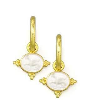 Elizabeth Locke Crystal Grifo Earring Pendants, Crystal