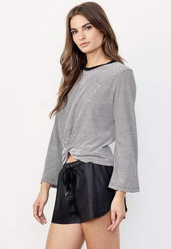 David Lerner Bell Sleeve Knotted Top