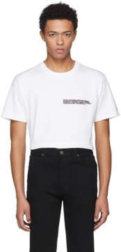 Calvin Klein White Logo Text T-Shirt