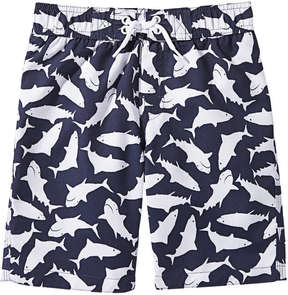 Joe Fresh Kid Boys' Print Board Short, Midnight Blue (Size S)