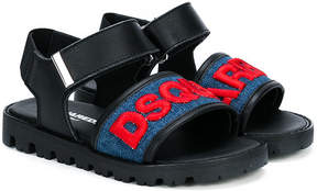 DSQUARED2 embroidered logo sandals