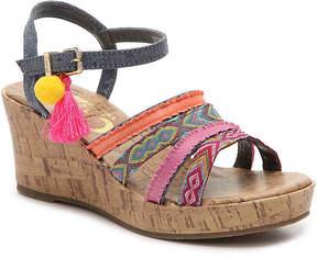 Sam Edelman Girls Edena Kara Youth Wedge Sandal
