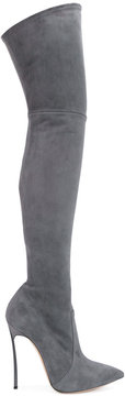 Casadei knee-high pointed boots
