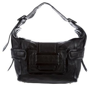 Pierre Hardy Patent and Soft Leather Hobo Bag
