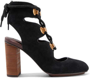 See by Chloe Lace-up Suede Pumps - Black