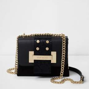 River Island Womens Black and gold tone chain cross body bag