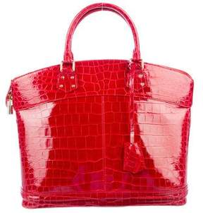 Louis Vuitton Crocodile Lockit GM