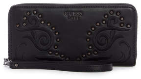 GUESS In Love Studded Zip-Around Wallet