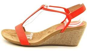 Style&Co. Style & Co. Women's Mulan Embossed T-strap Wedge Sandal.