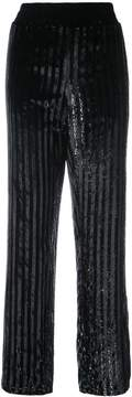 RtA striped sequined trousers