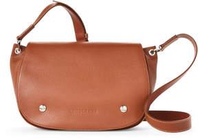 Longchamp Cognac Le Foulonne Leather Saddle Bag