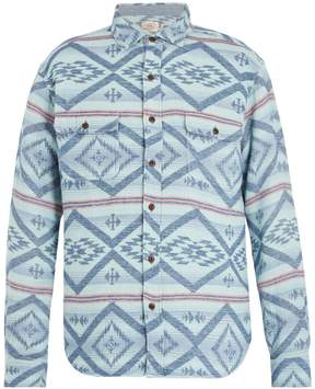 Faherty Belmar Aztec-print cotton shirt