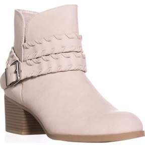 Style&Co. Sc35 Dyanaa Stitched Harness Ankle Boots, Ice.