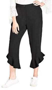 City Chic Plus Frilled Pants