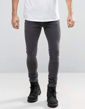 New Look Super Skinny Jeans In Gray Wash