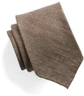 Drakes Drake's Brown Herringbone Tie