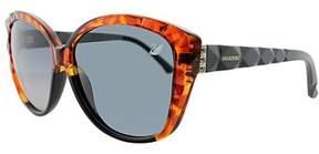 Swarovski Sk 0058 53b Blonde Havana Cat-eye Sunglasses.