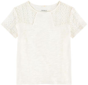 Name It Jersey and lace T-shirt