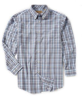 Roundtree & Yorke Gold Label Big & Tall Non-Iron Long-Sleeve Plaid Sportshirt