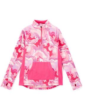 Cuddl Duds Pink Marble Fleece Half-Zip Pullover - Girls