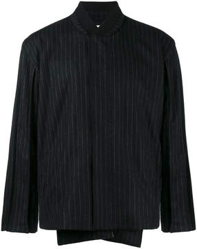 Lot 78 Lot78 Pinstripe bomber jacket