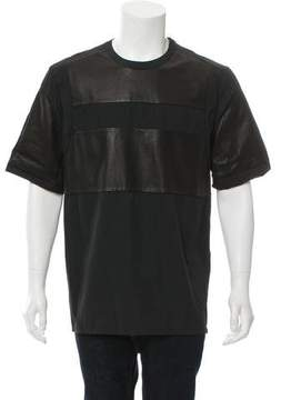 Alexander Wang Leather-Accented Short Sleeve Shirt