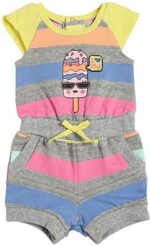 Little Marc Jacobs Striped Ice Cream Print Cotton Romper