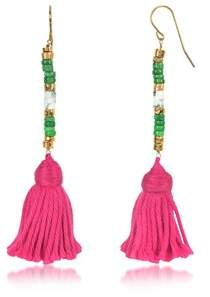 Aurelie Bidermann Women's Pink Steel Earrings.