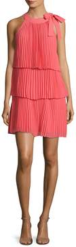 CeCe Women's Eloise Tiered Pleat Shift Dress