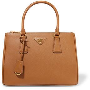 Prada Galleria Medium Textured-leather Tote - Tan