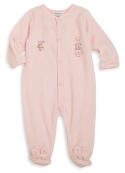 Absorba Babys Rabbit Graphic Footie