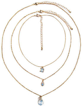 Arizona Womens 3-pc. Multi Color Necklace Set
