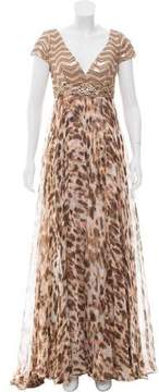 Alberto Makali Embellished Evening Dress w/ Tags