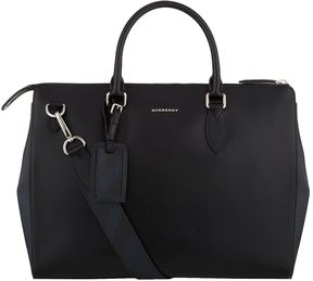 Burberry Saffiano Leather Large Briefcase