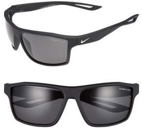 Men's Nike Legend 65Mm Polarized Multi-Sport Sunglasses - Matte Black/ Silver