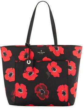 Kate Spade Riley Hyde Lane Poppy-Print Tote Bag