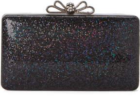 La Regale Black Bow Shimmer Convertible Clutch