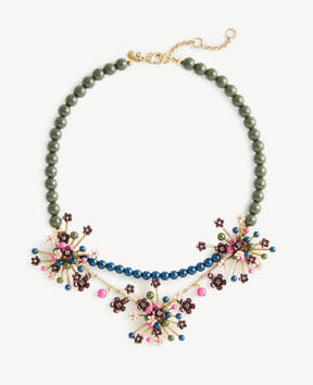 Ann Taylor Flower Burst Statement Necklace