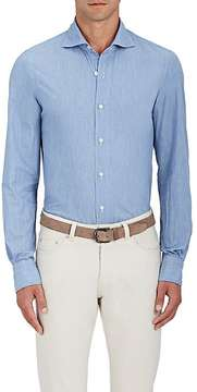 Finamore Men's Cotton Chambray Shirt
