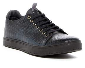 Donald J Pliner Prenton Snake Embossed Leather Sneaker