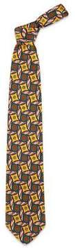 Forzieri Multicolor Diamond and Circle Pattern Pure Silk Tie