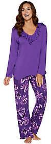 Carole Hochman Midnight Fleur Rayon Spandex Pajama Set