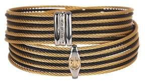 Alor Two-Tone Logo Detail Wrap Bracelet