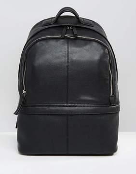 Asos Leather Harvard Backpack