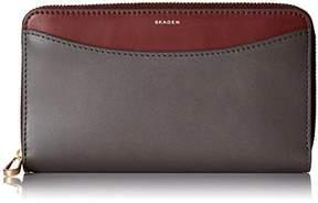 Skagen Compact Zip Wallet Leather Wallet