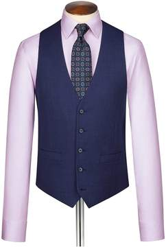 Charles Tyrwhitt Indigo End-On-End Business Suit Wool Vest Size w36
