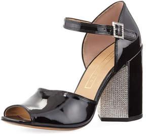 Marc Jacobs Kasia Strass Patent City Sandal