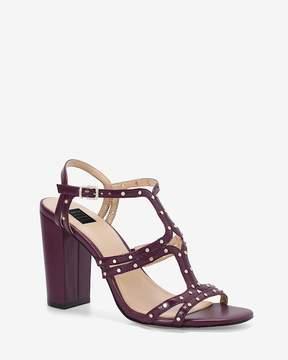 White House Black Market Studded Leather Heels