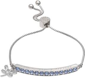 Brilliance+ Brilliance Enjoy the Journey Adjustable Bracelet with Swarovski Crystals