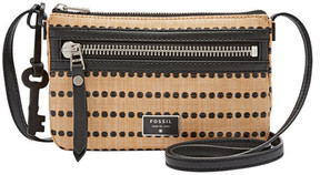 Fossil Mini Dawson Faux Raffia Crossbody Bag